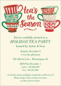Teas the Season Holiday Party Invitation
