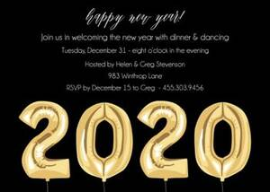 New Year Balloons Bottom Party Invitation