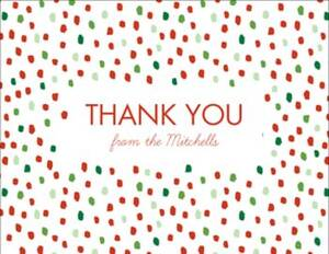 Holiday Flurry Thank You Card