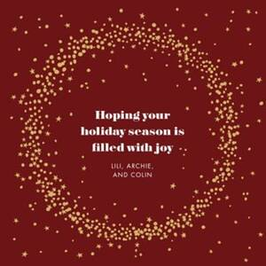 Wreath Of Stars Holiday Card