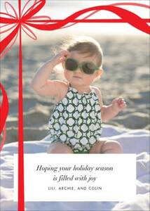 Proudly Present Holiday Photo Card