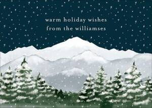 Snowy Mountains Holiday Card