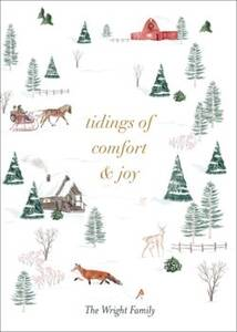 Winter Toile Holiday Card