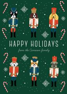 Nutcracker Dogs Holiday Card