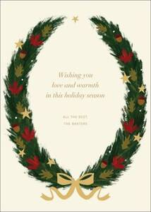 Maple Wreath Holiday Card