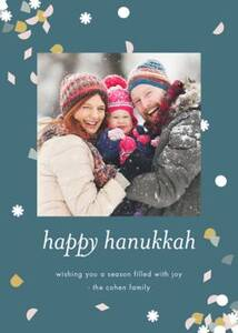 Hanukkah Confetti Photo Card