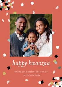 Kwanzaa Confetti Photo Card
