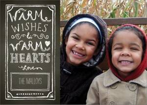 Warm Wishes Chalkboard Holiday Photo Card