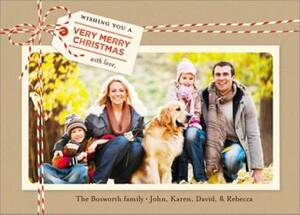Bakers Twine Horizontal Holiday Photo Card