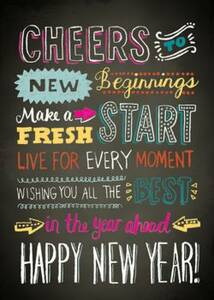 Chalk Typography New Year Card