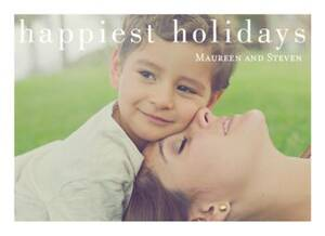 Chic Happiest Holidays Photo Card