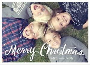 Merry Christmas Thick Script Holiday Photo Card