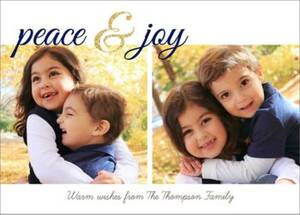 Peace & Joy Holiday Multi-Photo Card