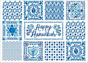Hanukkah Tiles Holiday Card