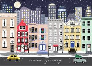 Snowy City Holiday Card