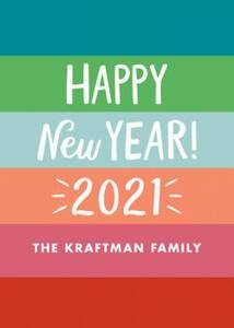 Colorful New Year Holiday Card