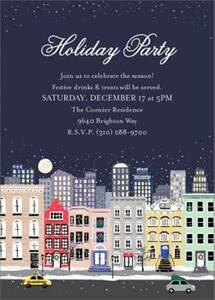 Snowy City Invitation