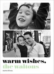 Warm Wishes two-photo Holiday Photo Card