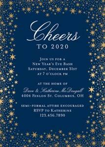 Star Border Foil Party Invitation