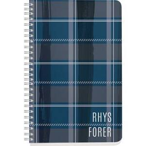 Navy Plaid Custom Journal
