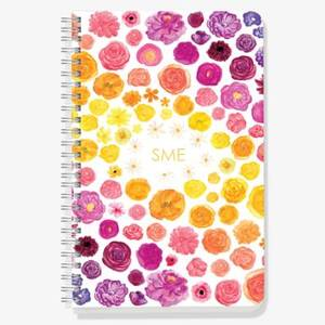 Rainbow Floral Custom Journal