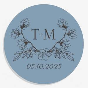 Floral Crest Personalized Stickers