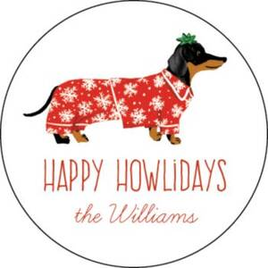 Happy Howlidays Personalized Stickers