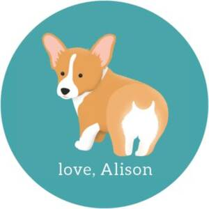 Corgi Personalized Stickers