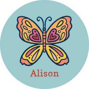 Butterfly Personalized Stickers