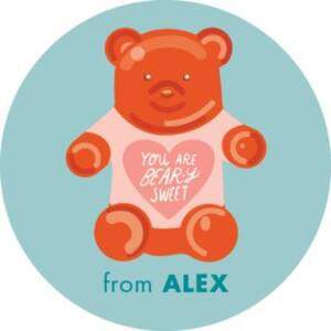 Bear-y Sweet Personalized Stickers
