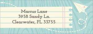 Paper Plane Return Address Label