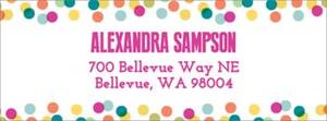 Colorful Confetti Border Return Address Label