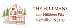 Holiday Village Return Address Label