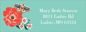 Garden Tea Return Address Label