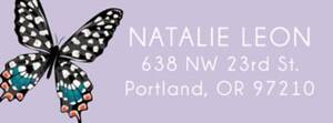 Butterflies Custom Return Address Labels