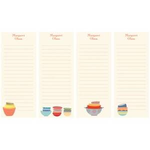 Bowls Personalized List Pads