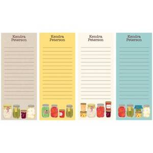 Canning Jars Personalized List Pads