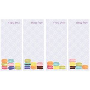 Macarons Personalized List Pads