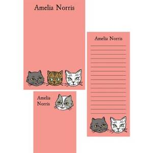 Cat Heads Mixed Personalized Note Pads