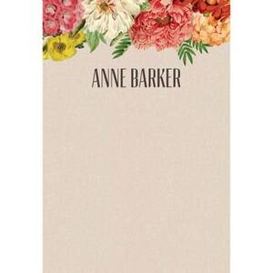 Bouquet Personalized Note Pads