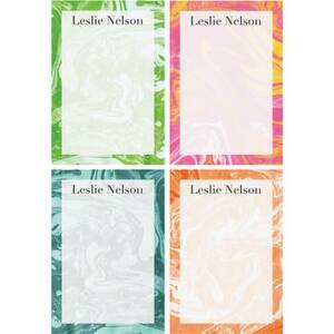 Marble Personalized Note Pads