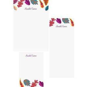 Fall Leaves Mixed Personalized Note Pads