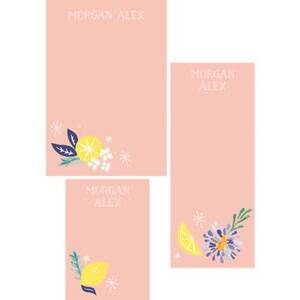 Citrus Floral Mixed Personalized Notepads