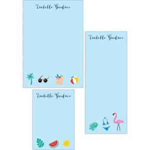 Summer Icons Mixed Personalized Notepads