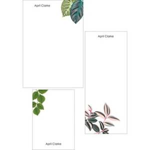 Leafy Greens Mixed Personalized Notepads
