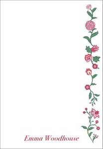 Toile Blooms Personalized Notepad Sets