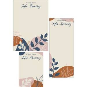 Abstract Botanical Mixed Personalized Note Pads
