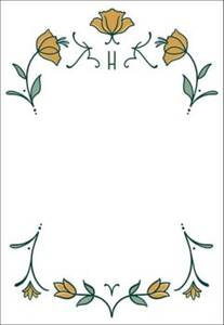 Nouveau Tulips Personalized Note Pads