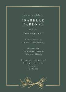 Cypress Flower Graduation Party Invitation
