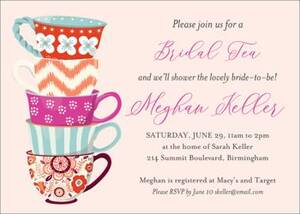 Teacups Bridal Shower Invitation